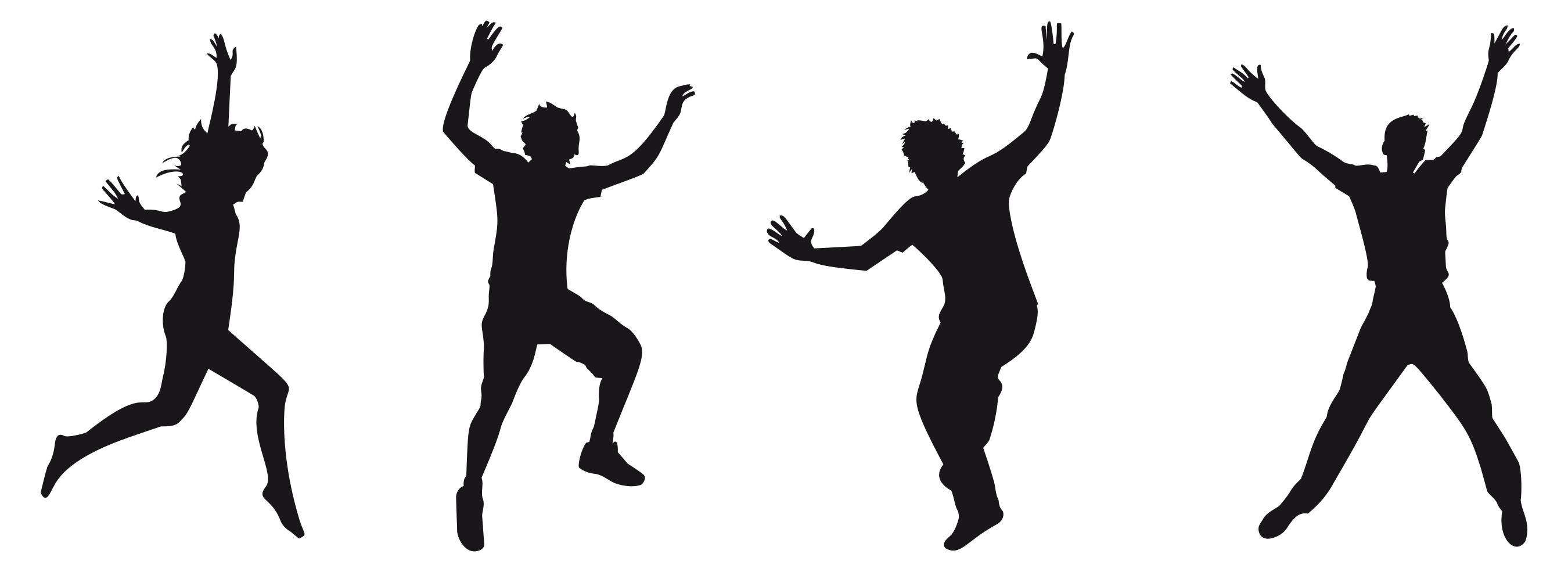 2700x985 Joy Jumping Silhouette 3 Clipart
