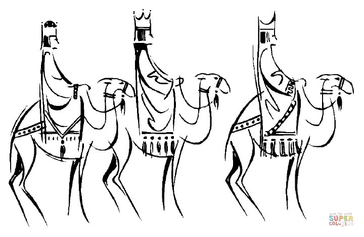 720x470 Three Kings On Camels Coloring Page Free Printable Coloring Pages