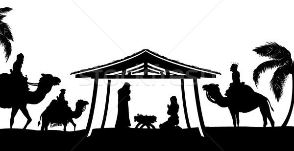600x309 Christmas Nativity Scene Vector Illustration Christos Georghiou