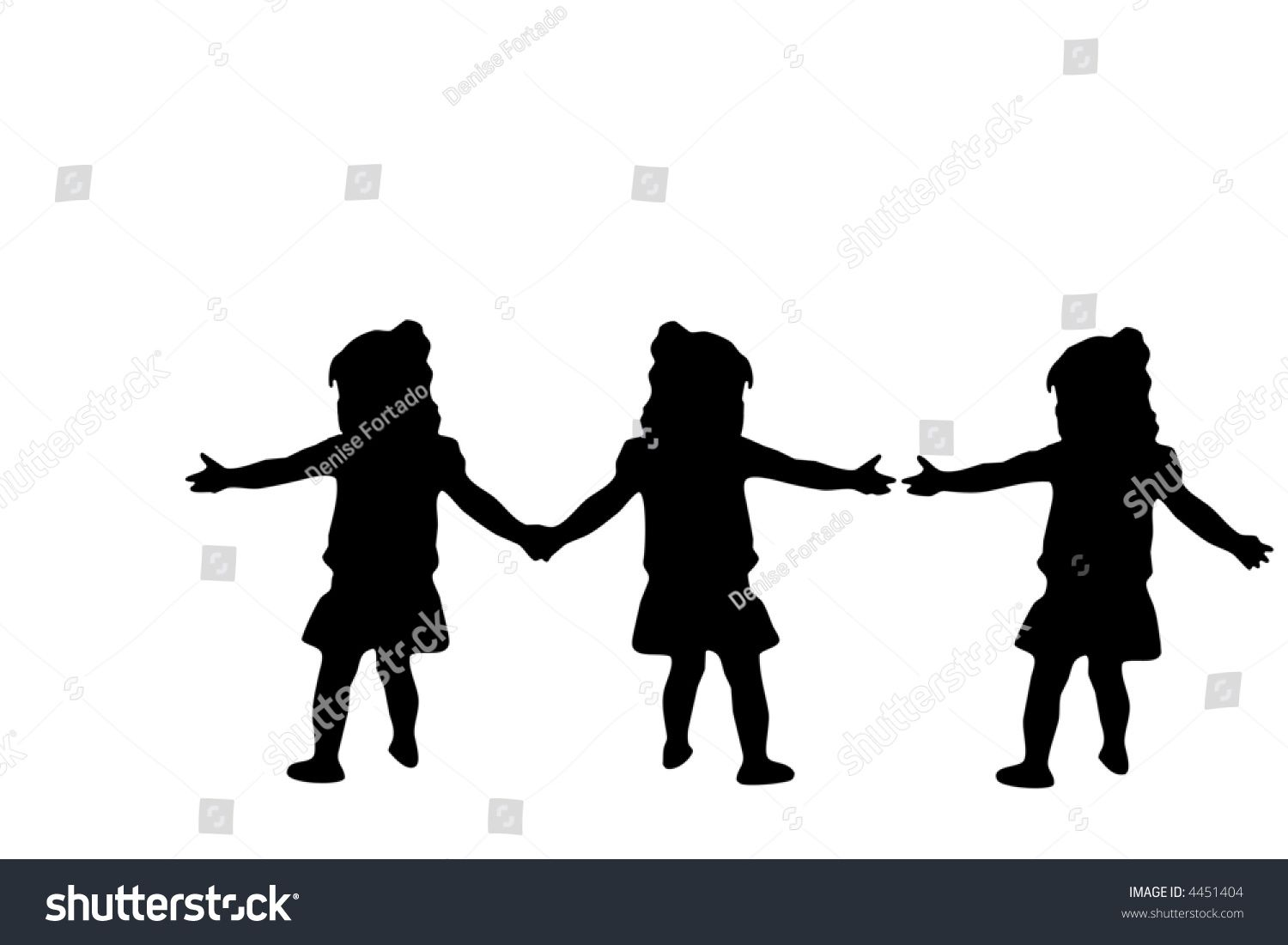 1500x1101 Silhouette Image Of 3 Women Silhouette Three Girls Joining Hands