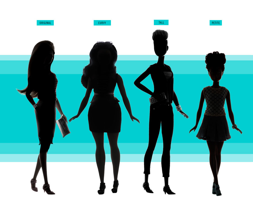 880x734 Barbie Releases 3 New Dolls With Realistic Body Shapes Bored Panda
