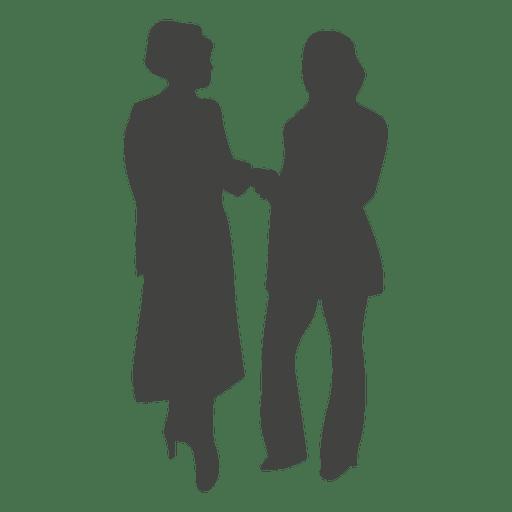 512x512 Businesswomen Shaking Hands Silhouette