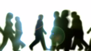 320x180 People Walking By (3d Vector Silhouette Animation) Motion