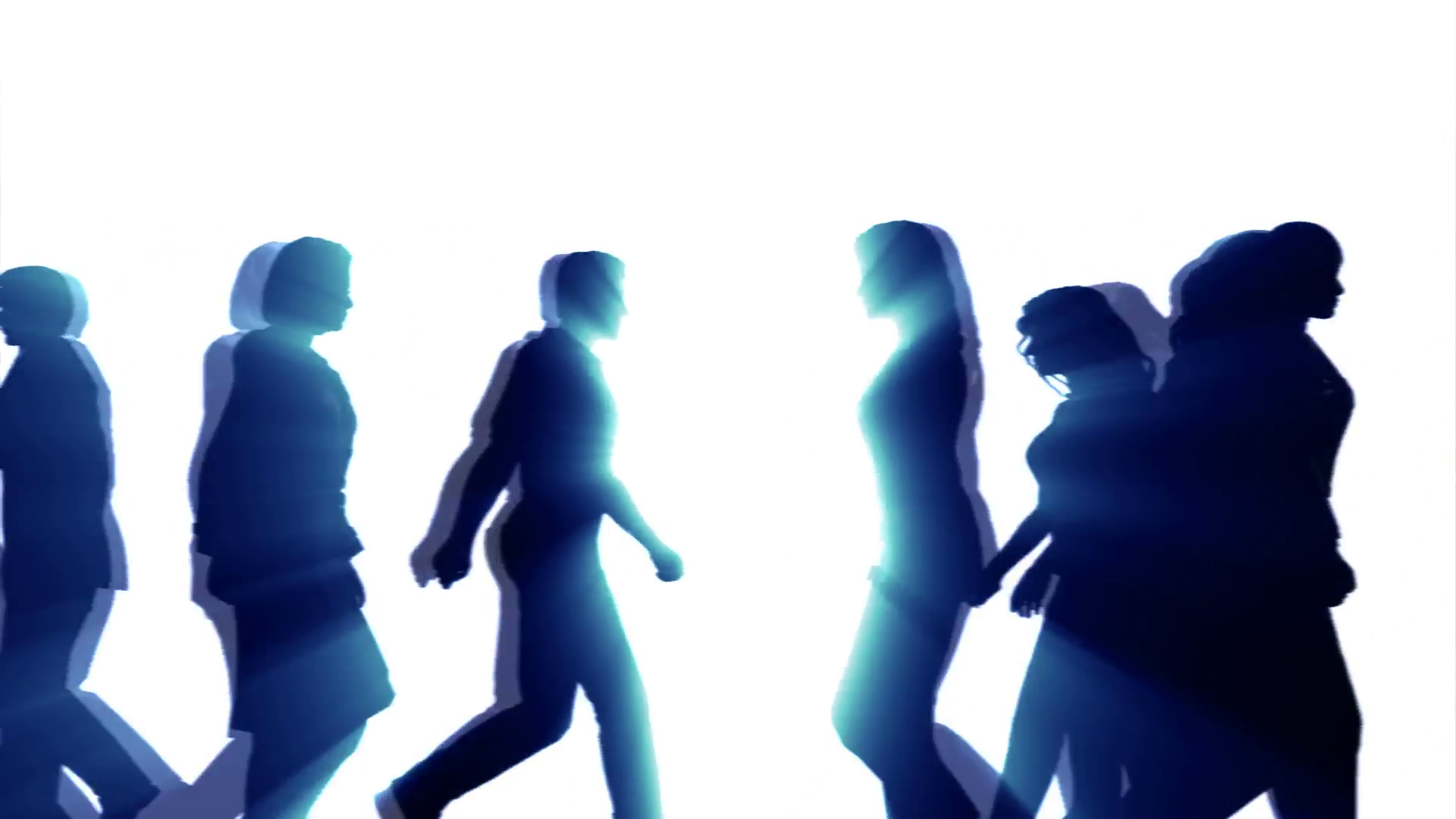 1920x1080 People Walking By (3d Vector Silhouette Animation) Motion