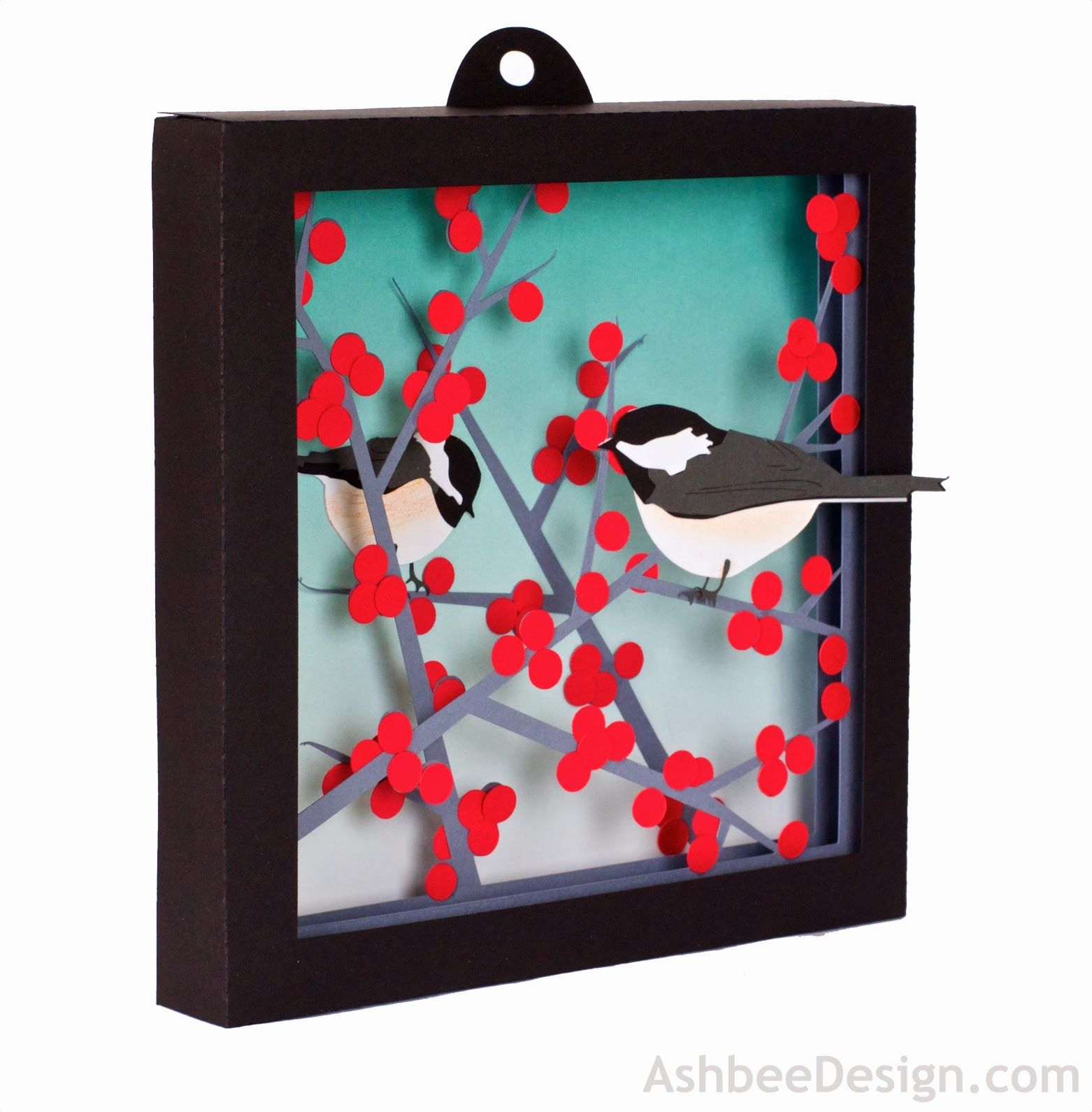 1562x1590 3d Winterberry Shadow Box Shadow Box, Silhouettes And Tutorials