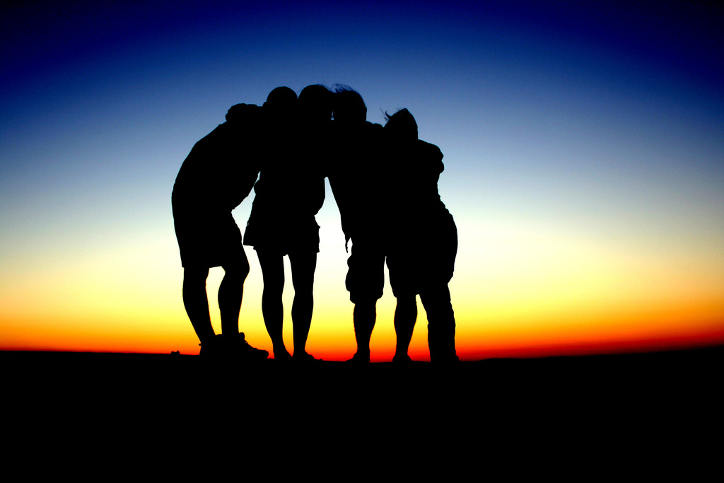 4 People Silhouette
