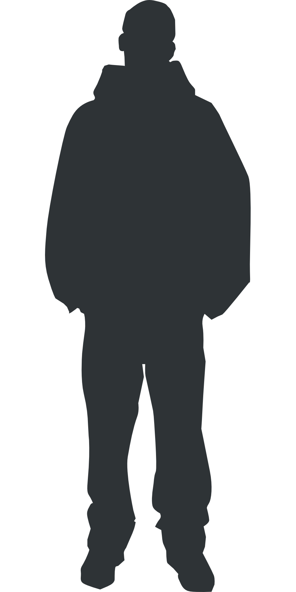 960x1920 Outline Shadow Clipart