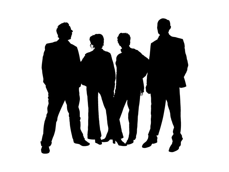 800x600 Family People Silhouettes Vector, Free Vectors