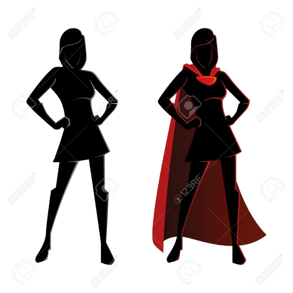 1024x1024 41020572 Vector Illustration Of A Female Superhero Silhouette 4