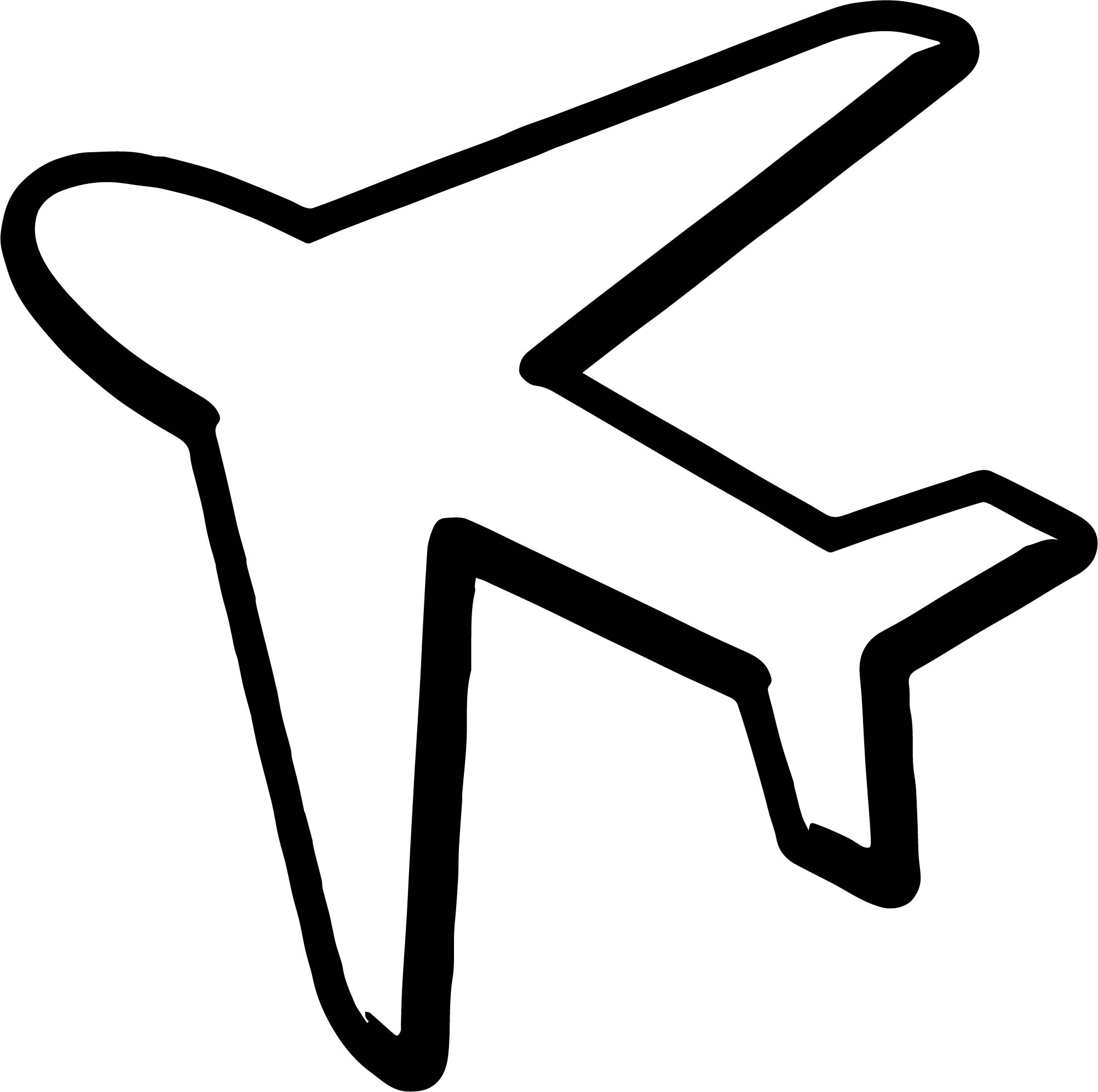 2005x1995 Airplane Silhouette Coloring Page Wecoloringpage