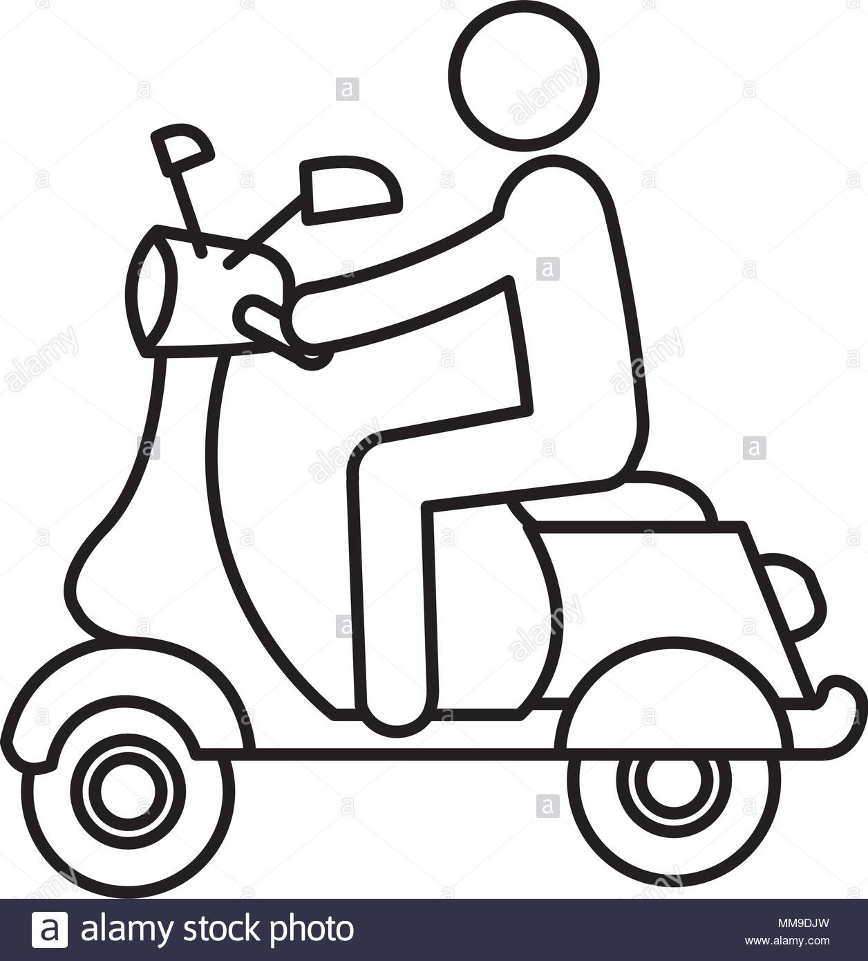 1256x1390 Scooter Silhouette Stock Photos Amp Scooter Silhouette Stock Images