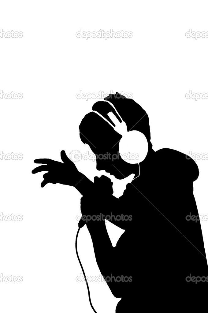 680x1023 Depositphotos 4343212 Silhouette Of A Boy With Mic And Headphones