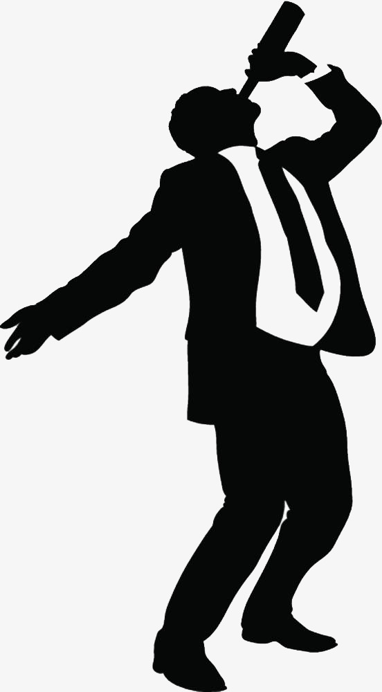 552x1000 A Silhouette Of A Drunken Business Man, Drunk, Business Man