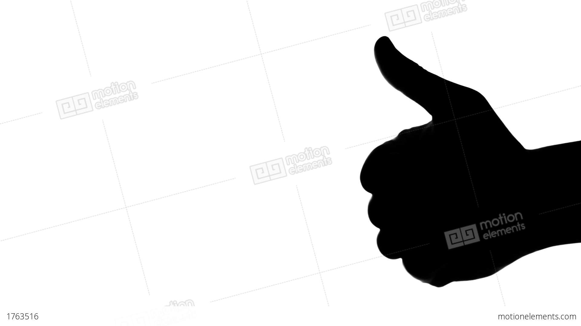 1920x1080 A Silhouette Of A Man's Hand Giving Thumb Up Stock Video Footage