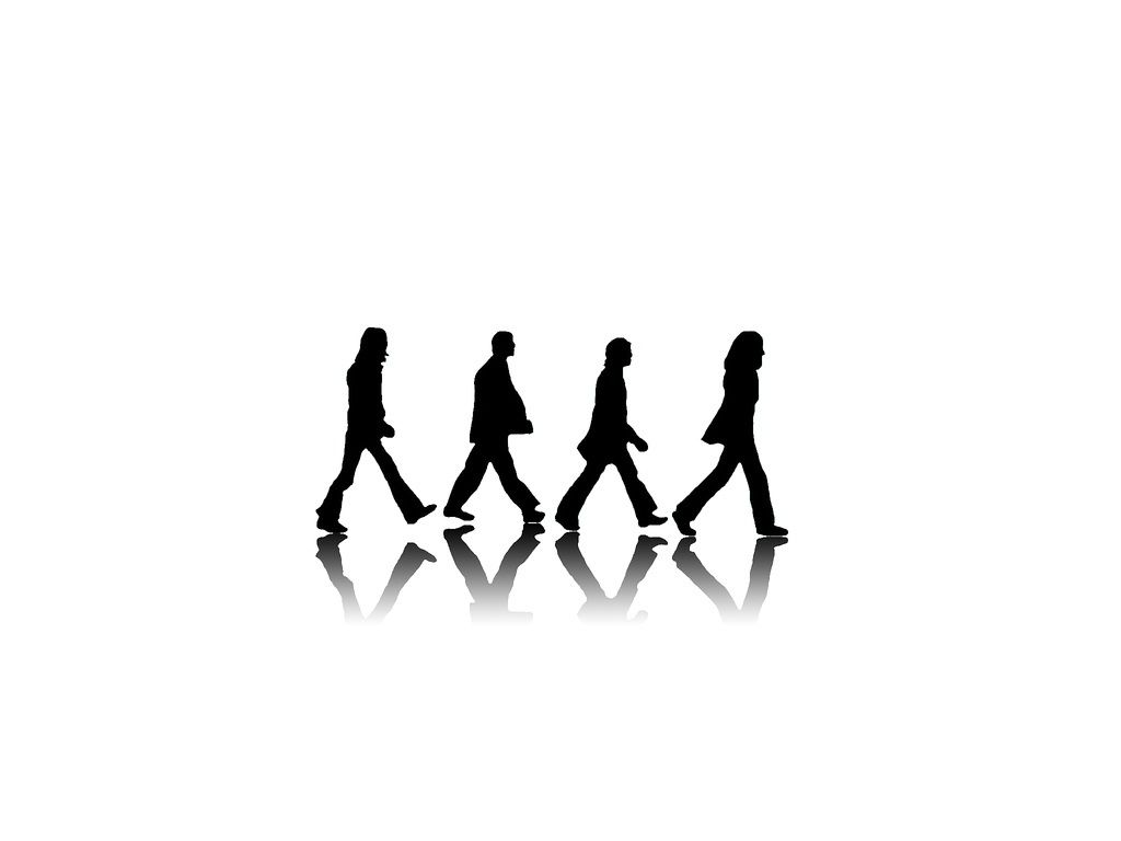 1024x768 Abbey Road Black And White The Beatles Hd Wallpapers 1024A 768