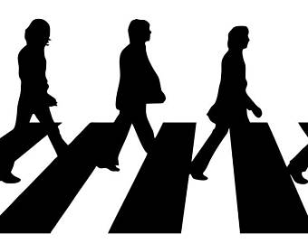 340x270 Group Of Beatles Abbey Road Silhouette