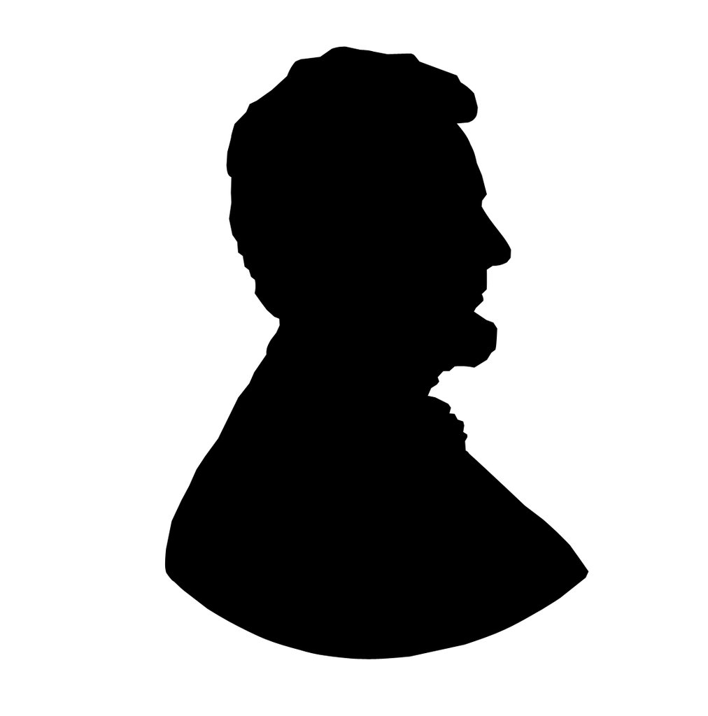 abraham lincoln silhouette clip art at getdrawings com free for