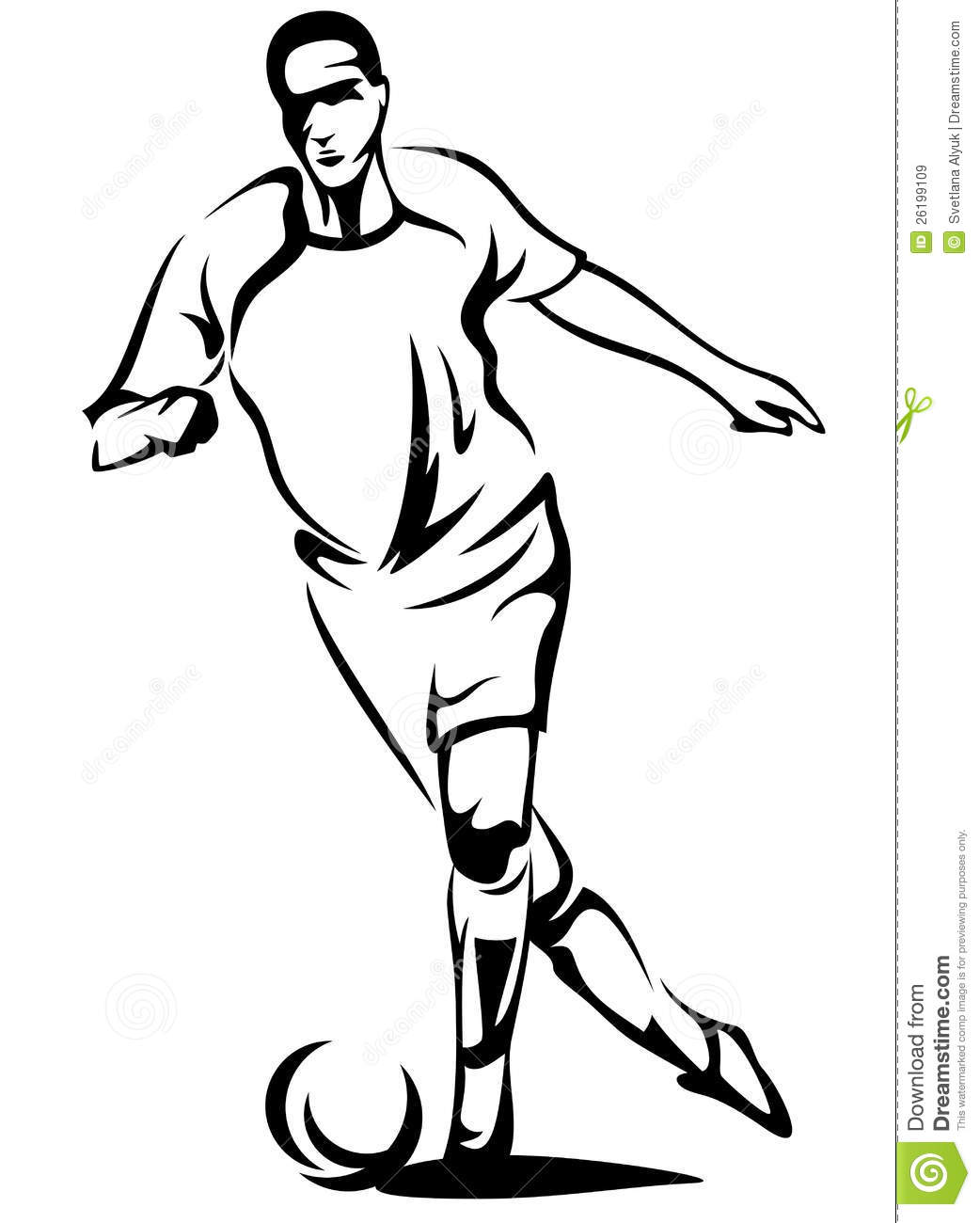 1042x1300 Football Player Outline