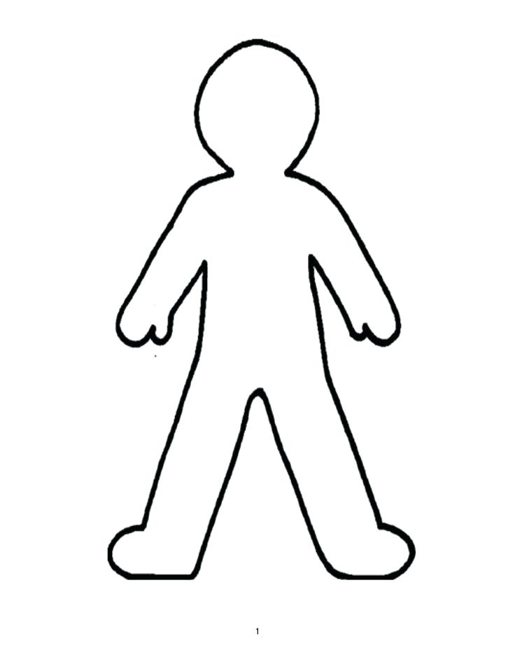 736x952 Outline Of A Human Outline Style Human Front Side Silhouette