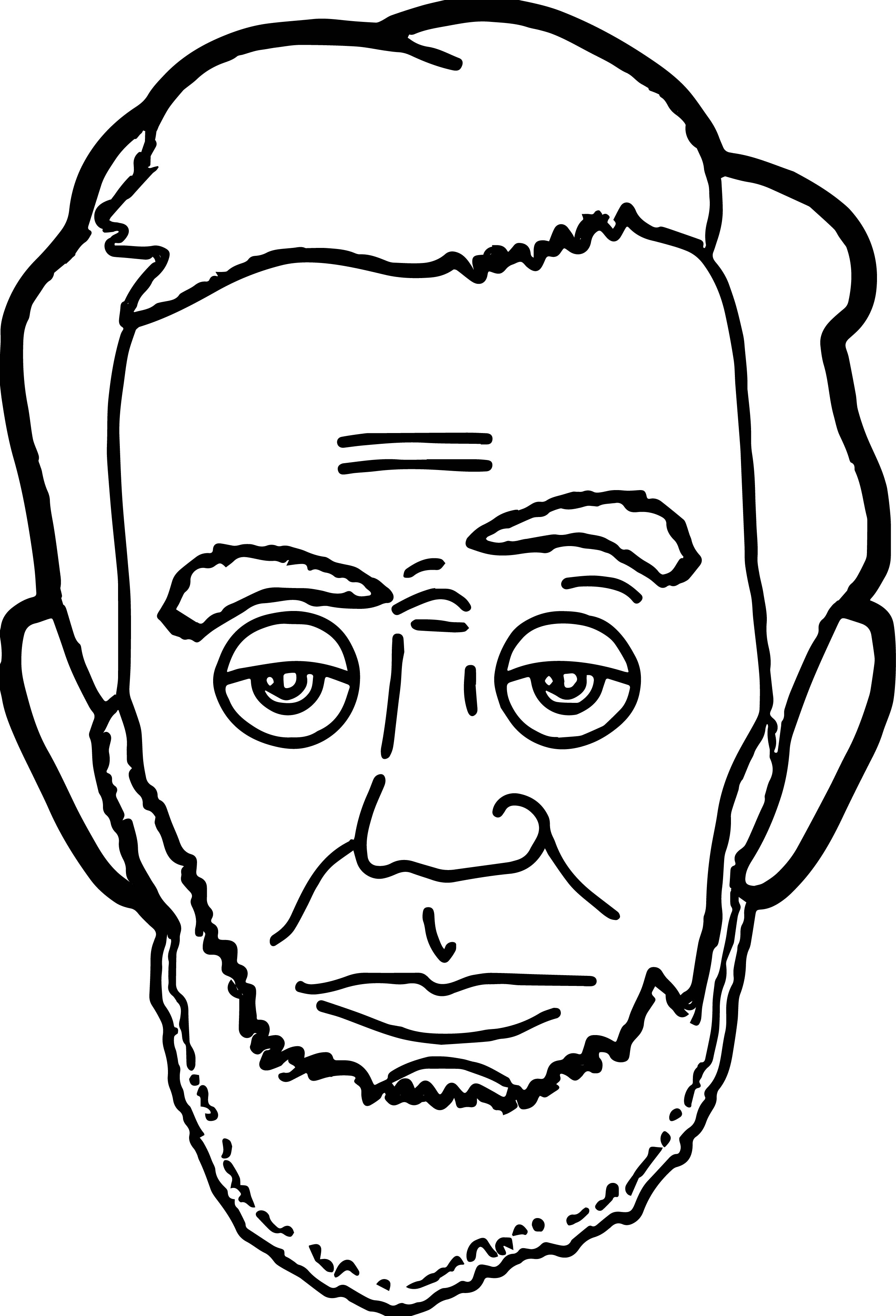 2497x3668 Abraham Lincoln Drawing Face