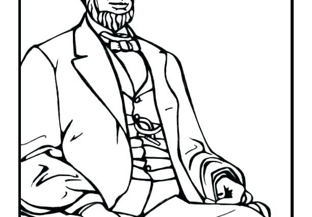 612x425 Abraham Lincoln Coloring Pages Printable Abraham Lincoln Coloring