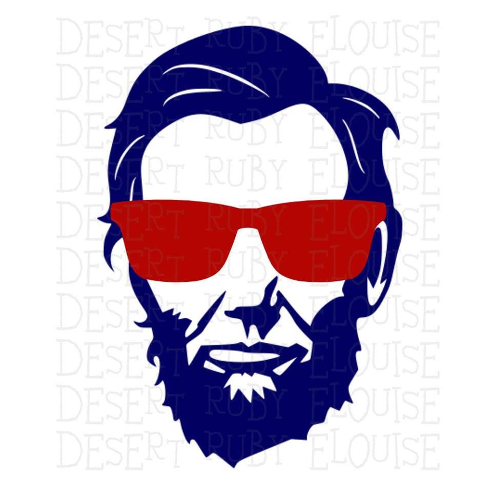 960x960 Abe Lincoln Sunglasses Abraham Lincoln SVG 4th of July svg
