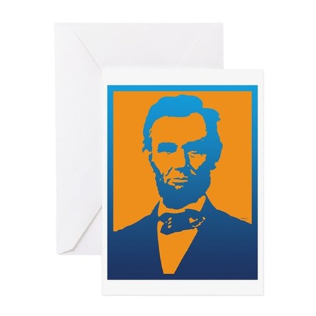 460x460 Silhouette Of Abraham Lincoln Stationery Cards, Invitations