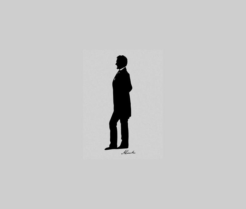 800x680 Abraham Lincoln Silhouette Wall Tapestries by warishellstore