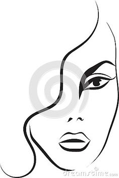 236x352 Woman Face Silhouette With Abstract Hair. Vector Girl