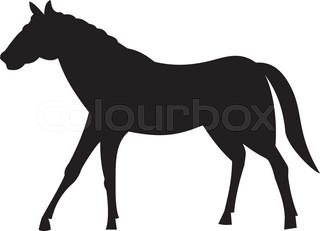 320x231 Silhouette Of A Horse Stock Vector Colourbox