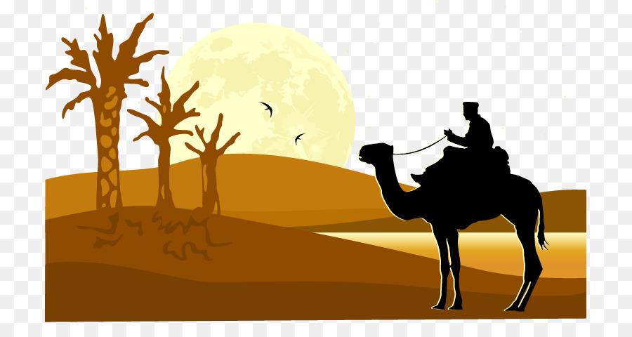 900x480 Camel Desert Silhouette Illustration