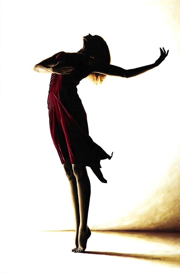 594x900 Poise In Silhouette Painting By Richard Young