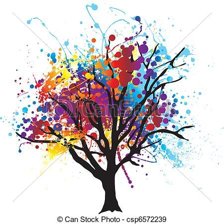 450x449 Abstract Tree Drawings