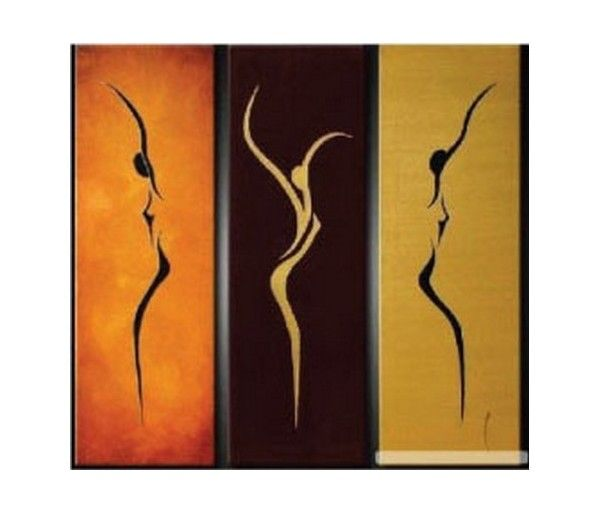 600x514 Tableaux Triptyques Silhouettes De Femmes.jpg Abstract