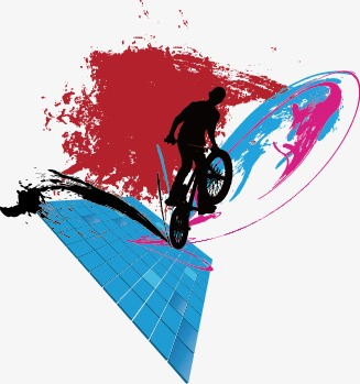 327x349 Colorful Abstract Silhouette Sports, Abstract, Bright, Sketch Png