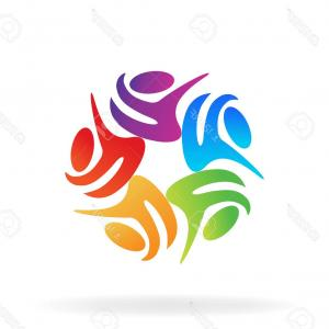 300x300 Photostock Vector Silhouette Of Abstract People Icon And Abstract