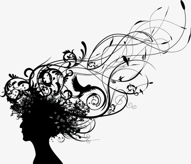 650x560 Abstract Silhouette Girl Hair, Abstract Hair, Portraits