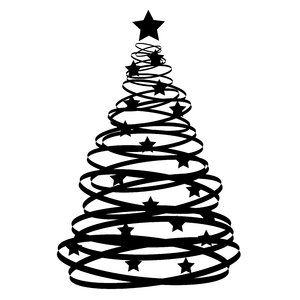 300x300 Abstract Xmas Tree An Abstract Christmas Tree Silhouette