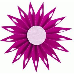 300x300 Silhouette Design Store 3d Accordion Pleated Rosette Flower