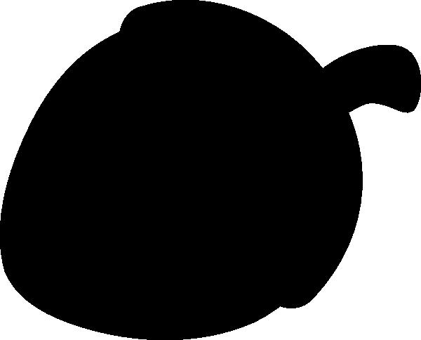 600x484 Acorn Silhouette Clip Art