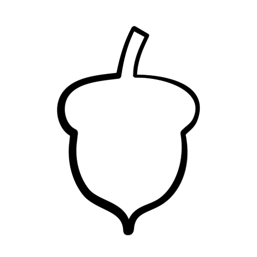 512x512 Acorn Silhouette Clip Art Clipart Panda