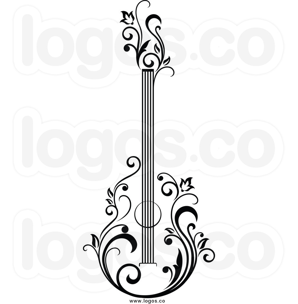 1024x1044 Royalty Free Floral Guitar Stock Logo Designs Woodwork Projects