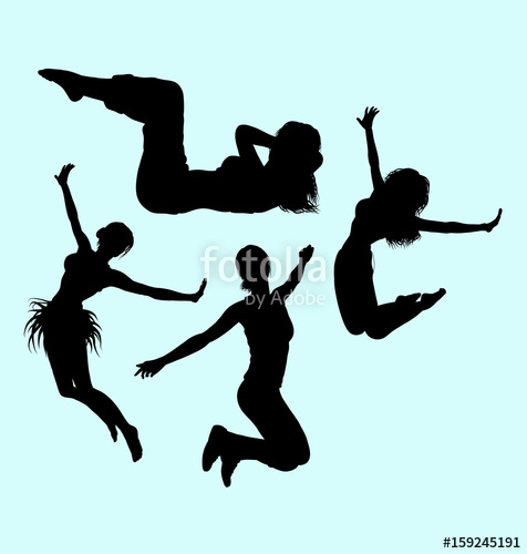 476x500 Gymnastic Teenager Girl Action Sport Silhouette. Good Use