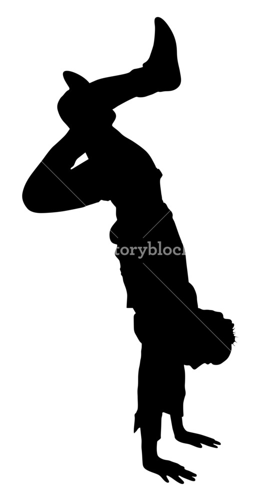 522x1000 Man In Action Silhouette Royalty Free Stock Image