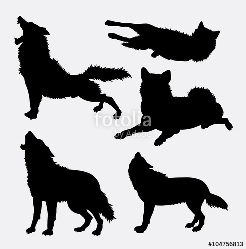 493x500 Wolf Wild Animal And Action Silhouette. Good Use For Symbol, Logo