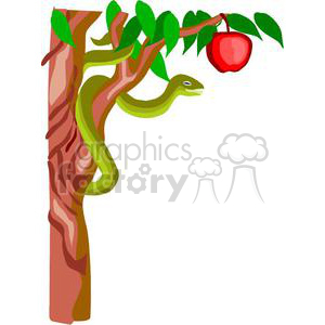 300x300 Royalty Free Snake From Adam And Eve 164166 Vector Clip Art Image