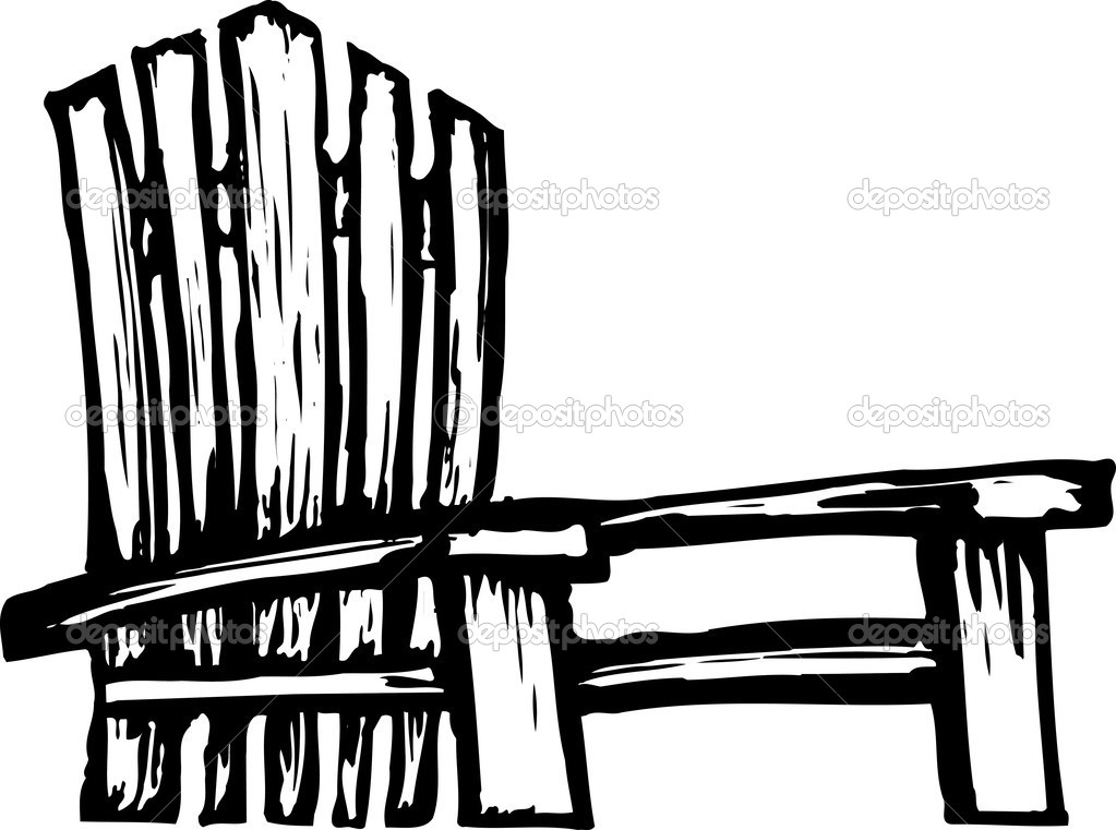 1023x761 14 Adirondack Chair Silhouette Vector Images