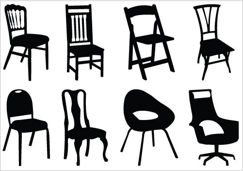 501x352 Adirondack Chair Silhouette Elegant Chair Clipart Vector Pencil