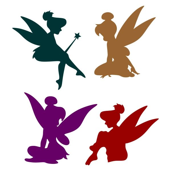 600x600 Fairy Silhouette Cuttable Design Cut File. Vector, Clipart