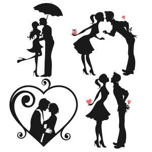300x300 Sweetheart Love Couple Cuttable Design Cut File. Vector, Clipart